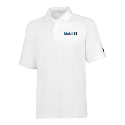 Men's Mobil 1™ Under Armour® white polo