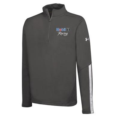 Men's Mobil 1 Racing™ Under Armour® graphite 1/4 zip