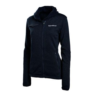 ExxonMobil™ Ladies' hybrid fleece sweater jacket