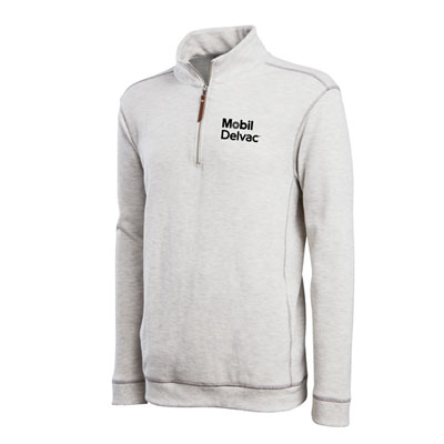 Mobil Delvac™ Conway quarter-zip pullover with contrast stitching